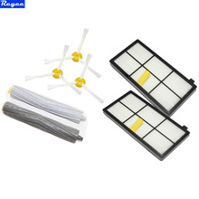 Buy 2pcs HEPA Filter 3x3-arm Side Brush 1 Pairs Tangle-Free Debris Extractor iRobot Roomba 800 Series 870 880 Vacuum Cleaner for $16.98 in AliExpress store