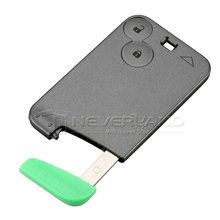 Smart Card For Renault Laguna Espace 2 Buttons Car Key Blank Shell Case Cover With Blade Free Shipping D05(China)