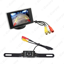 "Digtal 3.5""inch 2 in 1 TFT LCD Standalone Reverse Monitor + License Plate Night Vision Camera Car Rear View System  #CA3344"