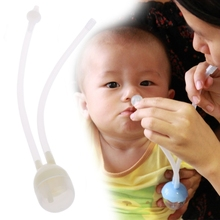 New 1Set Baby Safe Nose Cleaner Vacuum Suction Nasal Aspirator With Tweezers Brush Set