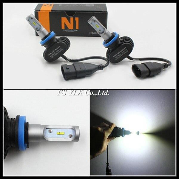 FSYLX H7 H8 H9 H10 H11 CSP Universal LED headlight bulb Auto motorcycle Car H8 H9 LED Headlight 9005 H10 H11 LED DRL Headlights<br>