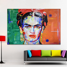 HDARTISAN Canvas Art Graffiti Wall Pictures For Living Room Frida Kahlo Oil Painting Pride Of MexicoHome Decor Printed