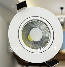 Wholesale!!! Free Shipping COB 10W Dimmable led downlight led recessed light ,with the waterproof powersupply