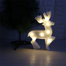 DELICORE Deer Shaped Night lights Led Christmas Decorative Lamp New year's Day holiday 7.28 in*10.04 in Lamp S015(China)