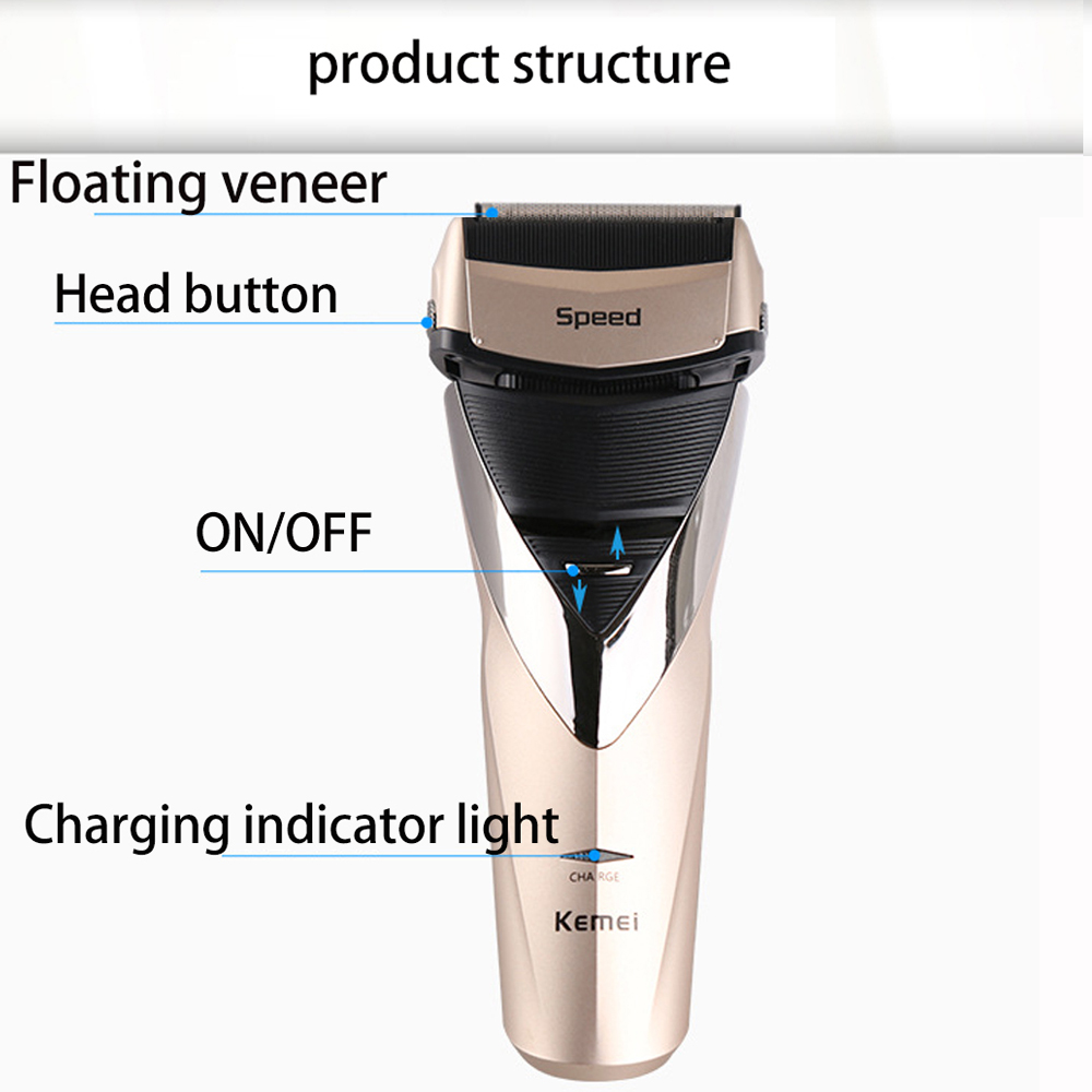 Kemei electric shaver rechargeable shaveing for man shavers body wash twin blade cutter head men face care Shaver razor KM-8102 5