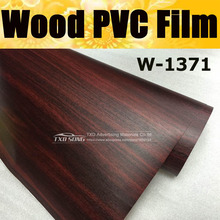 Good quality  W1371 Wood PVC Grain Sticker Wood VINYL Wood PVC film internal decoration wood grain pvc vinyl film Free shipping
