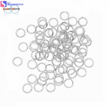 SUSENSTONE 100PCS 4mm Open Jump Rings 21-Gauge DIY Jewelry