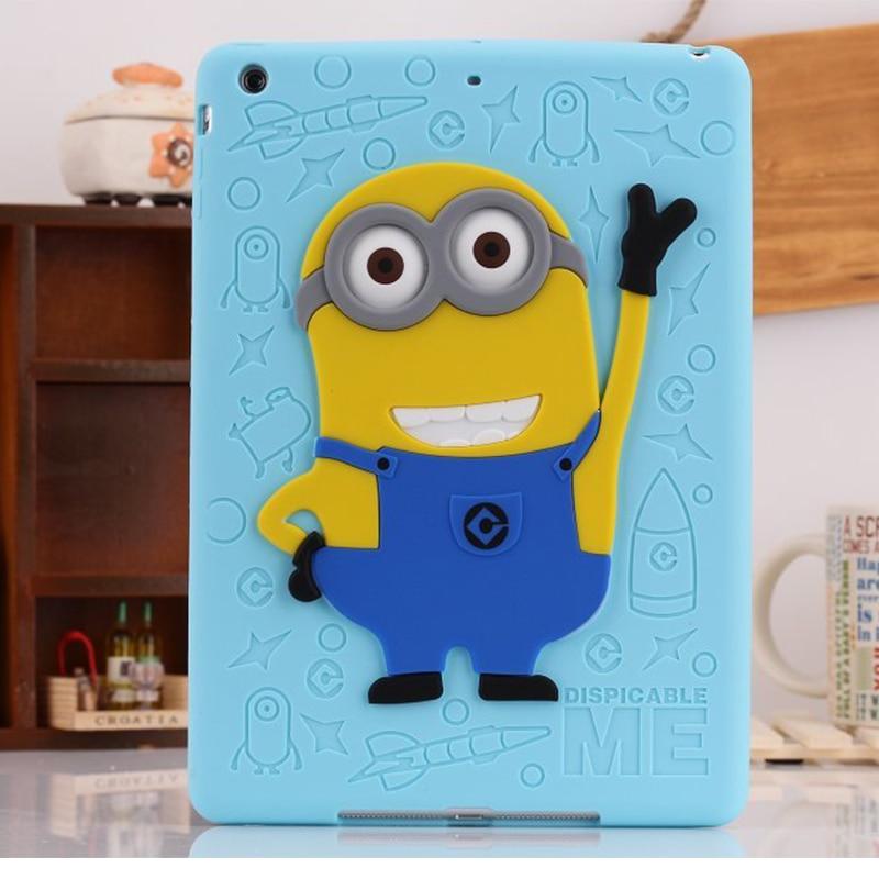 For iPad Mini 1/2/3 Case Silicone 3D Despicable Me Minion Soft Rubber Case Cover For Coque iPad Mini 123 Newest Drop Resistance<br><br>Aliexpress