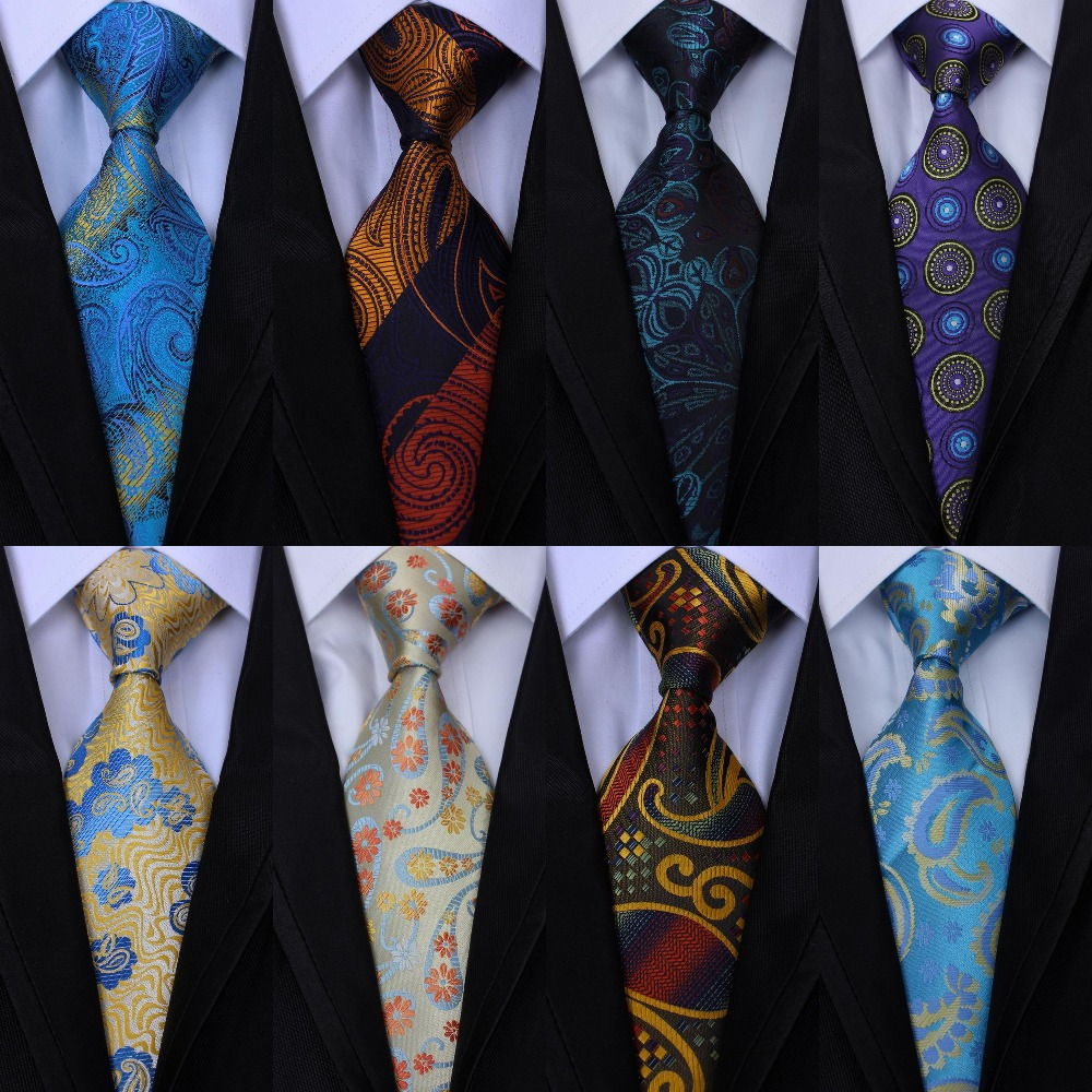Men/'s Neck Tie Silk Jacquard Woven Classic Business Wedding Party Necktie 8cm