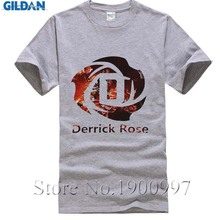 YUANHUIJIA The New 2017 Summer Style Derrick Rose T Shirts Men Fashion Casual short sleeve Men T-shirt Rose Tops tee