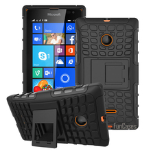 For Microsoft Nokia Lumia 435 Case Hybrid Kickstand Rugged Rubber Armor Hard PC+TPU 2 In 1 With Stand Function Cover Cases
