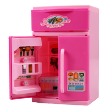 Girls Lovely Toy Refrigerator Children House Play Pretend Role Play Refrigerator Educational Toy(China)