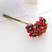 72 Handmade Mulberry Paper Flowers Pink Wedding Snapdragons JY-1002(China)