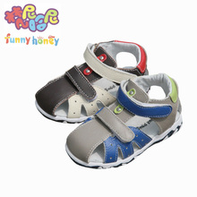 Good Quality!2016 Genuine Leather Baby Sandals Children's Shoes First Walkers Boys Kids Sandals Beach Boys/Girls Kids Footwear