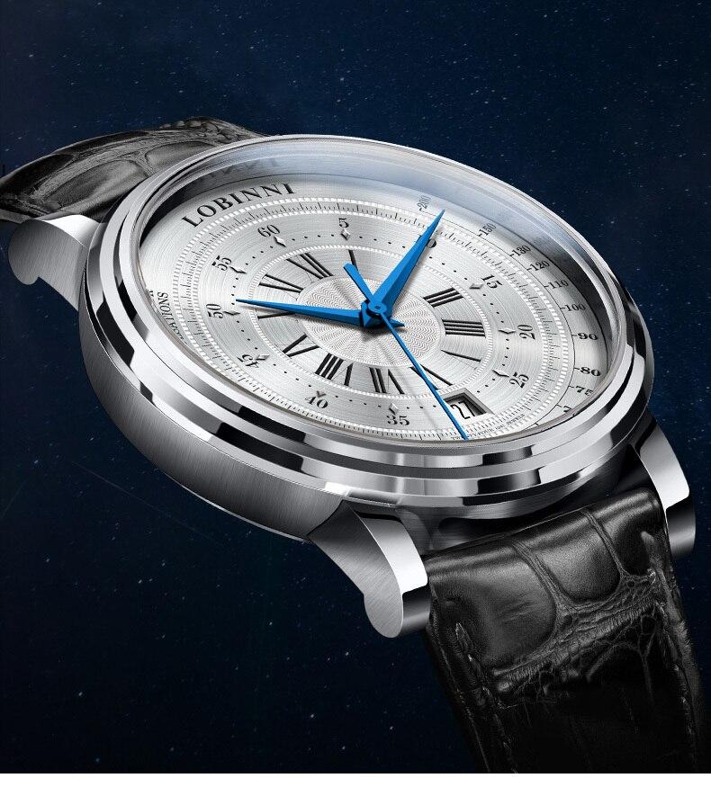 LOBINNI New Men Watches Top Luxury Brand Japan Import NH35A SII O Auto Mechanical MOVT Men's Clock Sapphire reloj hombre L1018-8 2