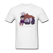 Designs R&B t-shirt Teenage Plus size We Bare Bears mens T Luxury Grizzly Panda and Ice Bear Clothing For Mens(China)
