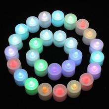 1PC Mini Colorful Romantic Electronic LED Candle Light For Party Wedding Candels Safety Home Decoration