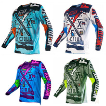T-Shirt Long Sleeve Cycling Clothing Cycling Jersey Downhill Jersey Bicycle Mountain Bike Clothing Quick Dry MTB Jersey