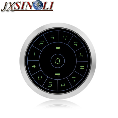 New Stype Round Type Metal Case Waterproof 125KHz RFID + PIN Access Control Keypad with Touchable Keyboard<br>