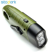 Stopdark Mini Emergency Hand Crank Solar Flashlight Rechargeable LED Light Lamp Charging Powerful Torch For Camping Outdoor