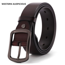 WESTERN AUSPICIOUS Belt Men Cowskin Genuine Lether Ceintures Homme 2017 Quality Male Strap By Factory