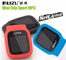 2016 New Arrive Original RUIZU X09 Sport MP3 Player 4gb Clip Mini With Screen Can Play 30 Hours, With FM,E-Book,Clock,Data(China)