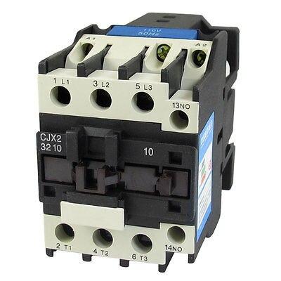 110V Coil Motor Controler AC Contactor 3 Pole NO N/O 660V 15KW CJX2-3210<br>