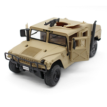 New Desert Military HUMMER H1 WAGON BLACK 1:24 DIECAST MODEL CAR BY MAISTO Collectible Alloy Electronic Car Kids Toys brinquedos
