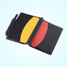 Football Referee Red Card Yellow Card Judge Case Soccer Wallet Pencil Notebook Set Professional Supplies equipment(China)