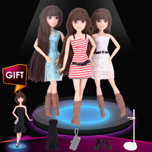 UCanaan Doll 1 PC Fashion DIY bjd Joint Body Dolls New Year Christmas Brithday Toys Gift for Girl Promotional Cheapest online(China)