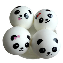 PU Cute Panda Strap Pendant Squishes Bag Parts & Accessories Key Chains Squishy Charms Kawaii Buns Bread Cell Phone/Key/Bag(China)