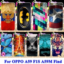 Hard PC Cell Phone Cases For OPPO A59 F1S A59M Find 9 Covers Panda Tiger Captain American Batman Superman Housing Bag Shell Hood