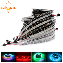 Full Color WS2812B LED Strip DC5V Black / White PCB RGB Smart Pixel control Led Strip(China)