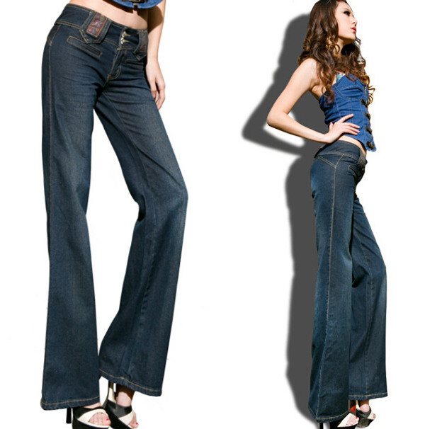 Women Jeans pencil pants New arrival vintage womens bell-bottom jeans mid waist slim waist slim boot cut trousersОдежда и ак�е��уары<br><br><br>Aliexpress