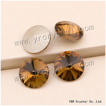 #1122 6 8 10 12 14 16 18 mm Crystal Light smoked Topaz wholesale Rivoli Beads Chinese Top Quality Round Fancy Stone Crystal