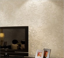Super thick home outfit non-woven wallpaper 3d high-class european-style bedroom living room TV setting wall paper manufacturer