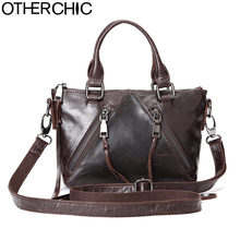 OTHERCHIC Women Vintage Crossbody Bag Small Genuine Leather Satchel Brand Women Handbags Tassel Messenger Bags Designer 7N06-20