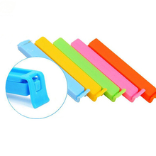 5PCs/Lot Plastic Food Bag Clips Colorful Food Fresh Accessories Home Use Storage Bag Sealing Clips