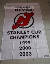 New Jersey Devils  3 Time Stanley Cup Champions flag hot sell goods 3x5 FT 150X90CM Banner brass metal holes NJ03