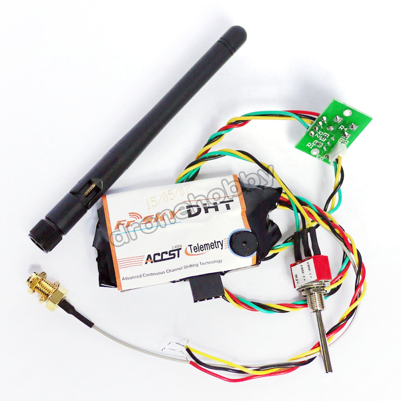 Free shipping DHT toggle switch FrSky telemetry module 2-Way Telemetry System for all radios that have PPM output 2.4Ghz<br>