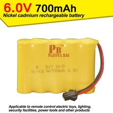 6V700mAh nickel cadmium batteries remote control aircraft, automotive electric toy parts(China)