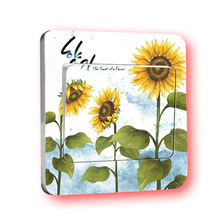 1 PCS New Style Fashion Creative Hand Painted Sunflower Switch Stickers Wholesale Universal Independent Packaging(China)
