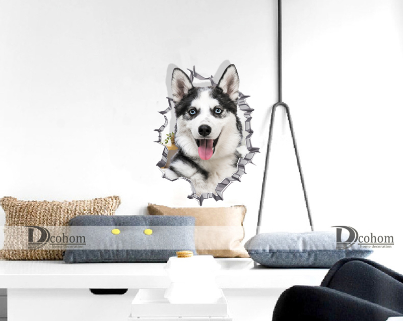 Hole View Cat 3D Wall Sticker Hole View Cat 3D Wall Sticker HTB1OAx
