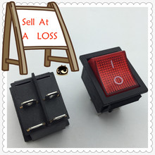 2pcs/lot RED LED Light 25*31mm SPST 4PIN ON/OFF G126 Boat Rocker Switch 16A/250V 20A/125V Car Dash Dashboard Truck RV ATV Home