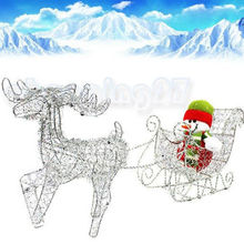 New Iron Shiny Santa Claus Deer Pulls Cart Wagon Without Snowman Christmas Gifts
