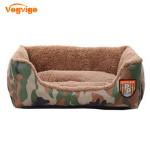 VOGVIGO 2017 New Waterproof Dog House Fashion Military Wind Camouflage Kennel Pet Bed & Lounge For Dogs And Cats Bed Pet Supplie