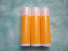 100PCS-5ML Empty Lipstick Tube,Yellow+White Plastic Cosmetic Container,DIY Lip Gloss Hose,Lip Blam Sub-bottling,Flat Angle Cap