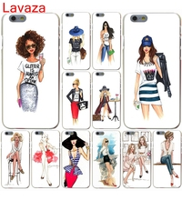 Lavaza Fashion Sketch Lady Latte mobile phone bag Hard Case for iphone 4 4s 5c 5s 5 SE 6 6s 6/7/8 plus X for iphone 7 case(China)