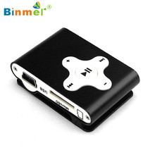 Binmer 2017 New Superior Quality Fashion Music Media Mini Clip Metal USB MP3 Player Support Micro SD TF Card