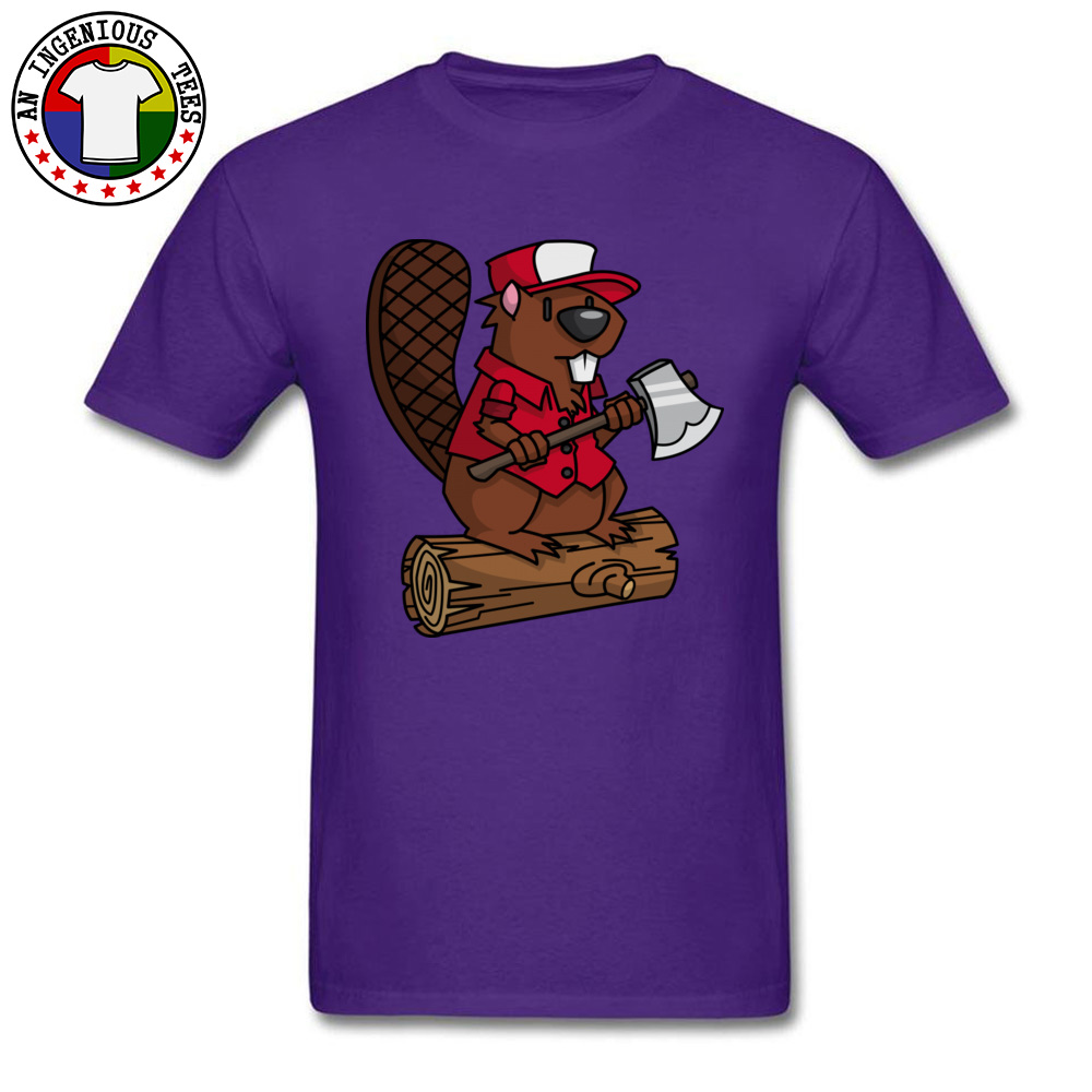 Beaver Chopper NEW YEAR DAY All Cotton Crewneck Tops T Shirt Short Sleeve Personalized Sweatshirts Brand New Hip hop Tshirts Beaver Chopper purple